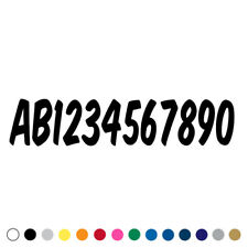 Custom Number Decal Sticker Text Lettering Commercial Pick up Truck Trailer xk
