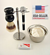 BEST MEN Shaving kit Gift Vintage Butterfly Safety Razor Holiday Season Omega