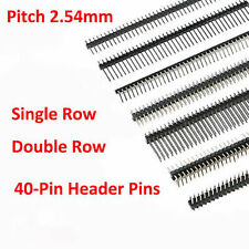 Straightright Anglesmd 1x40 2x40 Male Pin Header 254mm Pcb Jumper Connector