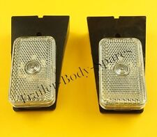 FREE UK Post - 2 x Front Clear Marker Lamp Light on Bracket - Trailer     #TR