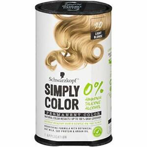 Schwarzkopf Simply Color, Permanent Color, 9.0, Light Blonde, 1 Application