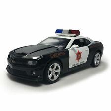Chevrolet Camaro Police Car 1:32 Model Car Diecast Gift Toy Vehicle Black Kids