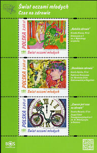 Poland 2017 MNH Through Eyes of Youth 3v M/S Art Drawings Stamps