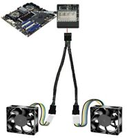 4 Pin PWM To Dual PWM Power Y-Splitter Adapter Cable Fan Su PC For CPU A3T9 O6Y1