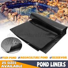 Black HDPE Fish Pool Pond Liner Membrane Reinforced Gardens Pools Landscaping US