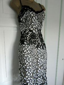 GORGEOUS NEXT WIGGLE BLACK/WHITE DRESS SIZE 10