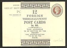 QV 11/2D 12 cartoline con Wrapper Band 12 straniere CARTOLINE 11/2D 1S 6D CP9