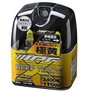 NEW IPF Halogen Headlight Headlamp Fog Bulb 2400K H3C Yellow With Tracking