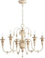 Quorum 6316-6-70 Salento 6 Light Chandelier Persian White French Farmhouse
