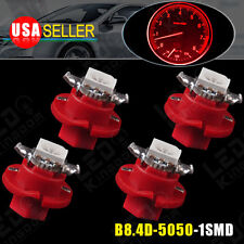 4PCS Pure Red B8.4D 5050 SMD 1-LED For Auto Car Internal Dashboard Light Bulb US
