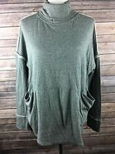 We The Free Free People Women's Gray Knit Turtle Neck LS Oversized Top Small