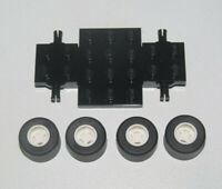 Lego ® Lot Chassis + 4 Roue Jante Pneu Tire Car Wheel 2441 + 74967 + 30028 NEW