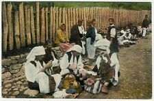 Bosnia, Weekly Market Scene with Street Vendors, Types, Old Postcard
