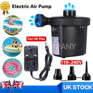Electric Air Pump for Paddling Pool Fast Inflator Deflator Camp Air Bed Mattres