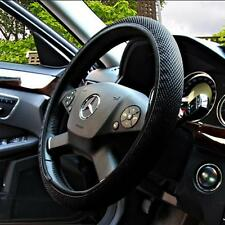 Style DIY Gift Fashion Steering Wheel Cover Ice Silk Cars Black