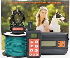 Remote Dog Training Collar & In-ground Electronic Containment Fence System Combo