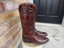 VINTAGE LUCCHESE COWBOY WESTERN BOOTS WOMEN 7 B GREAT CONDITION NOT MUCH USED