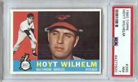 Hoyt Wilhelm 1960 Topps Vintage Baseball Card Graded PSA 7 NM Orioles #395