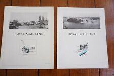 More details for 1930 royal mail line cruise shipping menu x2 rmsy atlantis