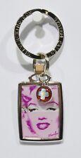 MARILYN MONROE cinéma pin up porte clé métal + breloque x rouge plaque 4x3 cm