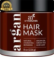 ArtNaturals Argan Oil Hair Mask Deep Conditioner 100% Organic Jojoba Aloe Kerati
