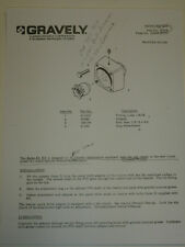 GRAVELY RETRO-FIT KIT OWNERS MANUAL #22478