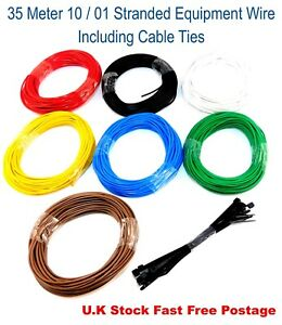 35m 10/0.1mm 7/0.2mm 16/0.2mm 24/0.2mm Equipment Wire DCC & DC Layout Wire