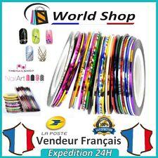 Lot de 20 Striping Ruban liseret adhésif ligne nail art decoration ongle bijou