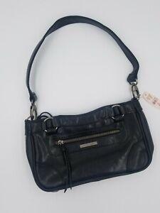 NEW Victoria's Secret Black Leather Satchel Handbag Shoulder Purse W/ Mirror