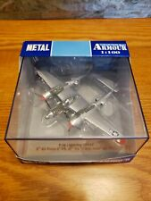 Armour Collection 1:100 Scale P-38 Lightning USAAF Metal Military Plane - Italy