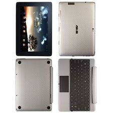 Skinomi Carbon Fiber Silver Skin+SP for Asus EEE Pad Transformer Prime+Keyboard