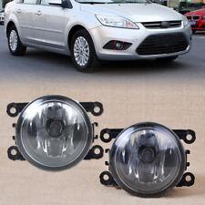 2PCS For Honda Ford Jaguar Nissan Right Left Side Fog Light Lamp + H11 Bulbs 55W
