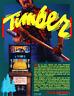 TIMBER Video Arcade Game Flyer 1984 Original NOS Promo Sales Sheet Bally MIDWAY