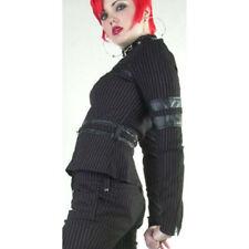 Lip Service Gangsta Pranksta Bondage Jacket Black/Red Goth Style 53-92 Size M