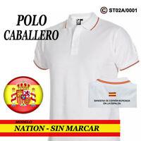 POLOS BANDERA DE ESPAÑA: CABALLERO - SIN MARCAR / 3 COLORES