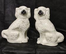 Antique Pair of Staffordshire Spaniel Dogs - All Original