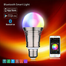 E27/E26 LED Bulb Light RGB Bluetooth Wifi Control Smart Music Audio Speaker Lamp