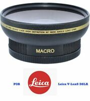 62MM WIDE ANGLE lENS + MACRO LENS FOR LEICA V-LUX 5 DSLR CAMERA SHIPS SAME DAY