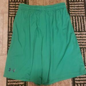 Under Armour Men's Loose Medium Shorts Athletic Performance Green