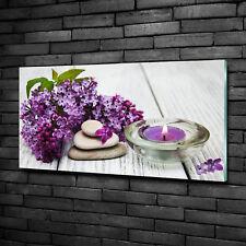 Glas-Bild Wandbilder Druck auf Glas 100x50 Blumen & Pflanzen Flieder Zen Steine