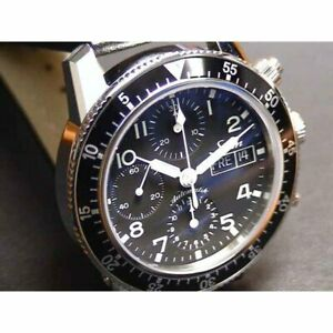 SINN 103 B.SA.AUTO Automatic Black Silver Stainless Cow Leather Round 41mm Men's