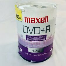 Maxell DVD+R 100PK Spindle 16X 4.7GB 120 Min - Data Video Music - 4 Hour Max