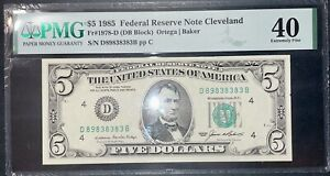 $5 1985 Fed Res. Note Cleveland Fr#1978-D DB  Great Serial! D89838383B