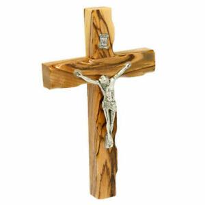 Cross Olive Wood Jesus Holy Crucifix Jerusalem Land Wall Christ Handmade Carved