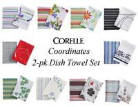 CORELLE Coordinates 2-pc Kitchen DISH TOWEL SET 18 x 26 *PICK Your PATTERN ~New~