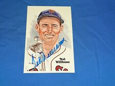 Vintage Baseball Autograph Signed HOF Perez Post Card #7592, TED WILLIAMS (#10)