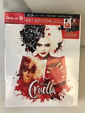 Cruella (Disney 2021) Target Exclusive 4k Ultra Hd + Blu-ray + Digital Code New