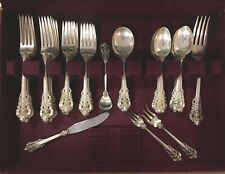 GORGEOUS WALLACE GRAND BAROQUE STERLING SILVER FLATWARE SET FOR 12