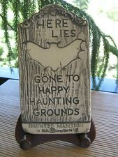 "VINTAGE ORIGINAL RANDOTTI "" GONE TO HAPPY HAUNTING GROUNDS""  TOMBSTONE"