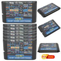 For Sega Megadrive 112 in 1 16 Bit Game Cartridge For Megadrive Multi Cart Retro
